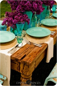 Plum Table Setting
