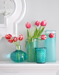 GR Lifestyles Turquoise Tulips